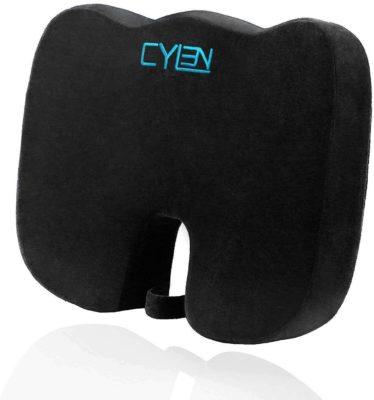 CYLEN Memory Foam Bamboo Charcoal Seat Cushion