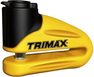 Trimax Yellow Hardened Metal Disc Lock