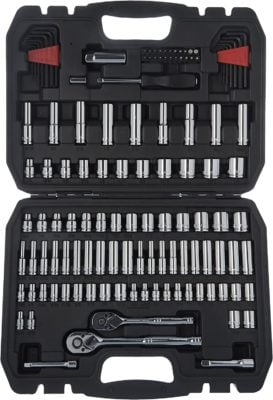 AmazonBasics 145-Piece Mechanic Socket Tool Kit Set with Case
