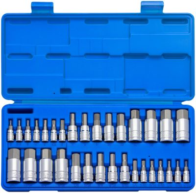 Neiko 32-Piece Hex Bit Socket Set