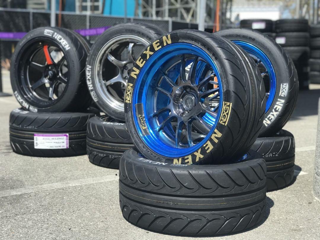 Pile of Nexen high-performance tires