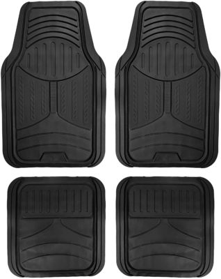FH Group Black Rubber Floor Mat