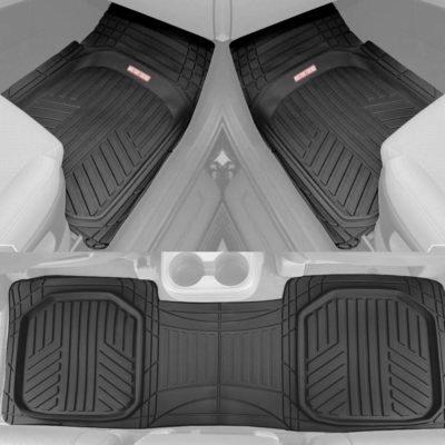 Motor Trend Black Deep Dish Rubber Floor Mats