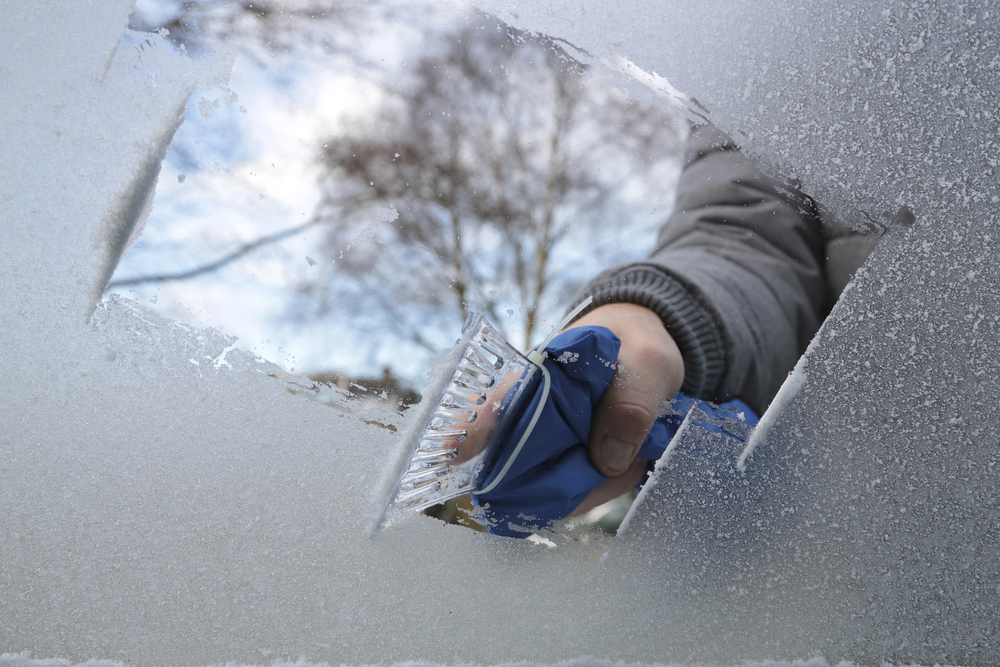 ice scraper used on windshield