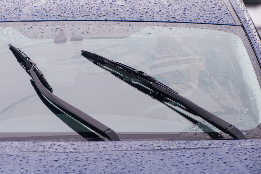 windshield wipers in the rain