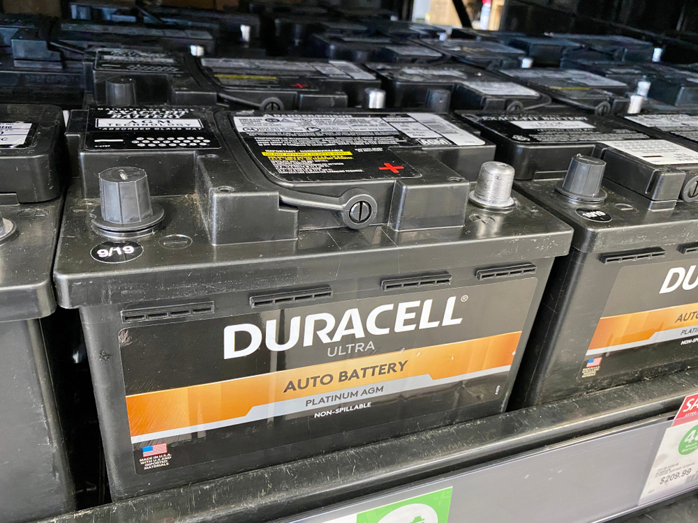 A Duracell AGM battery