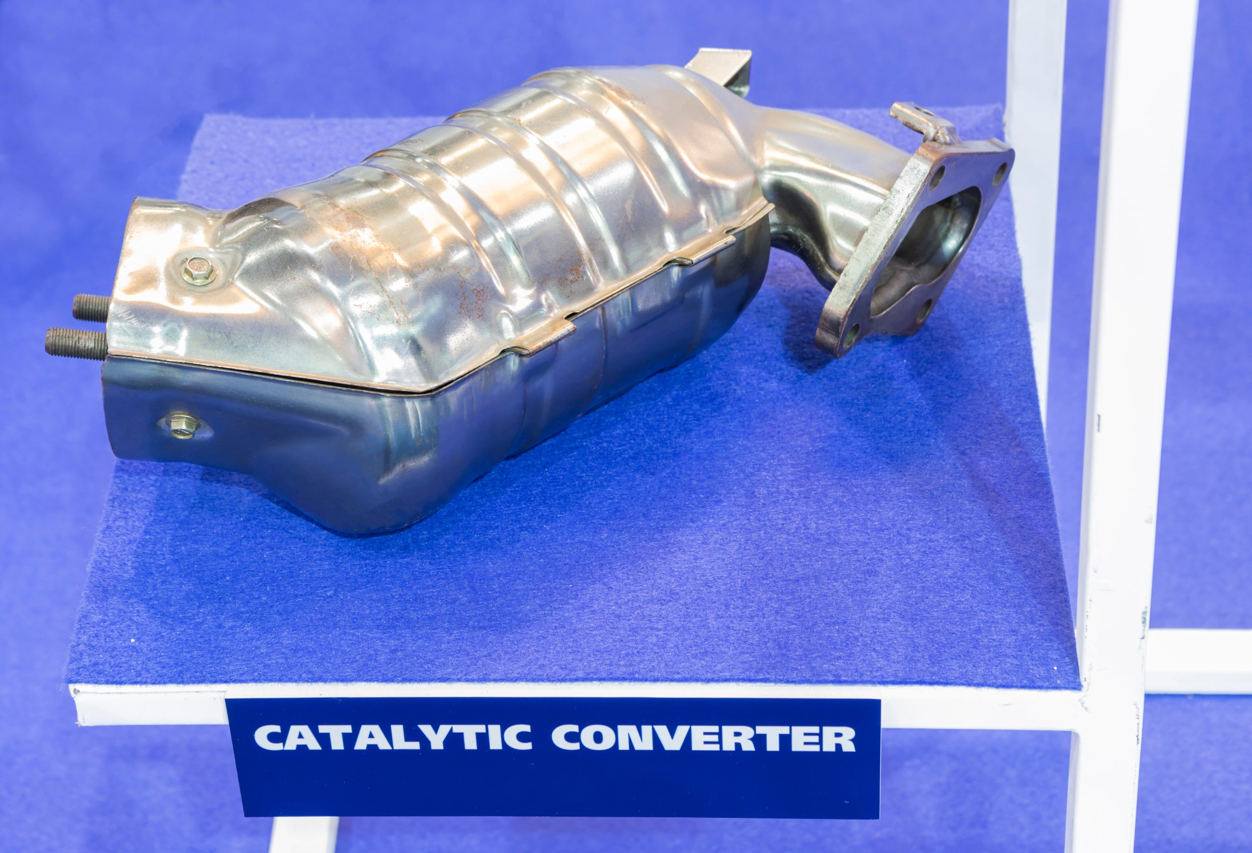 A catalytic converter before installation