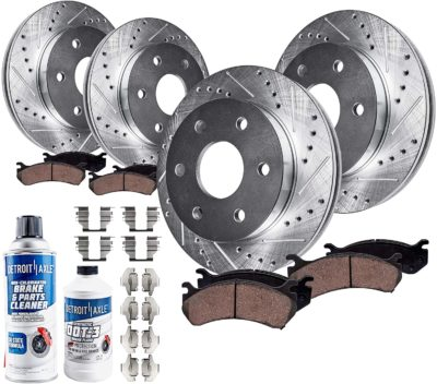Detroit Axle - Front and Rear Drilled and Slotted Disc Brake Kit