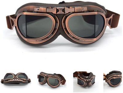 Evomosa Vintage Motorcycle Goggles