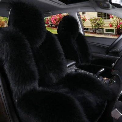 IMQOQ Sheepskin Fur Car Seat Covers