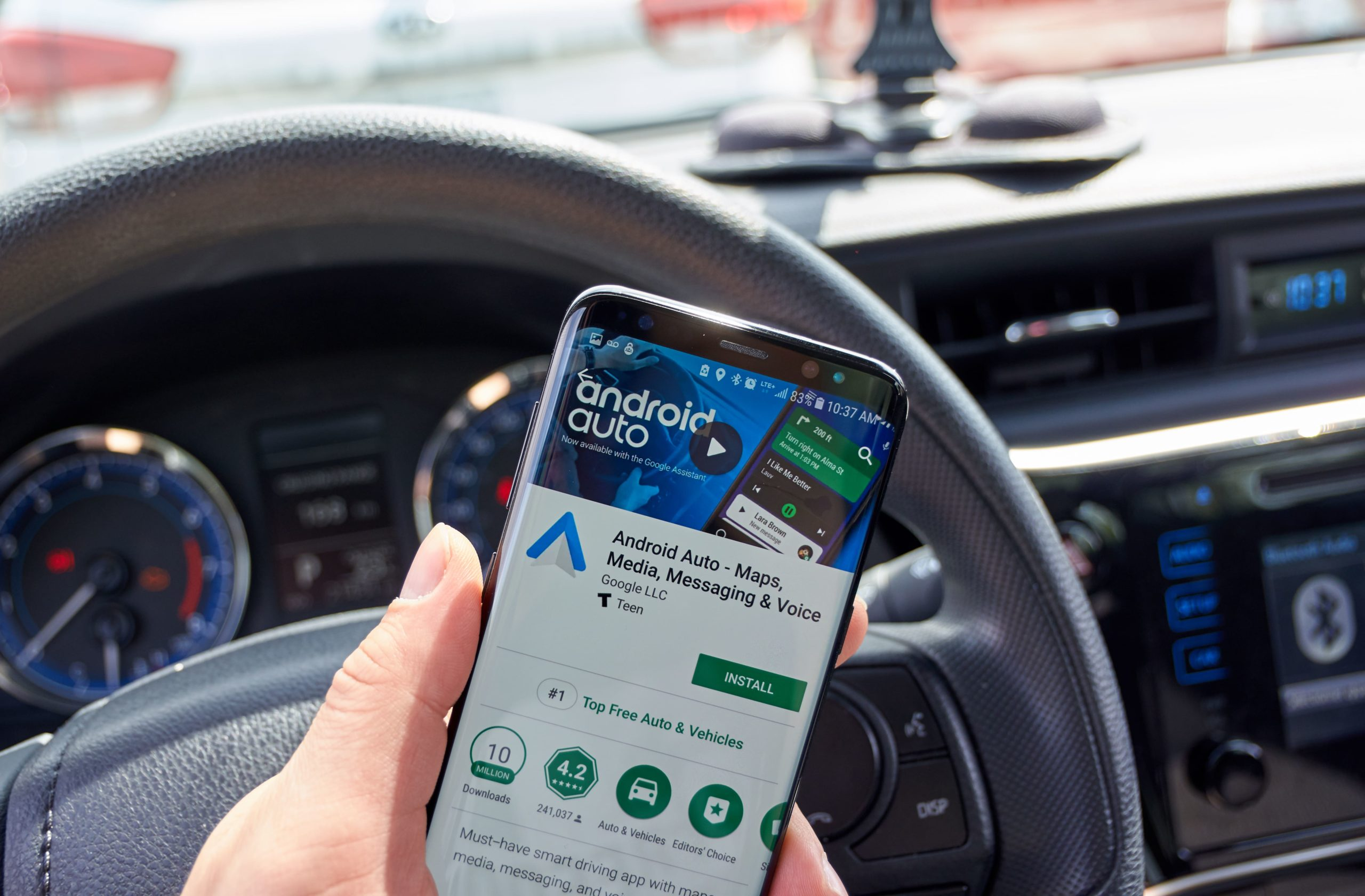 android auto being used with bluetooth to a car stereo