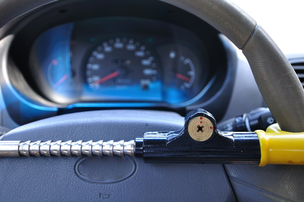 anti-theft device on wheel