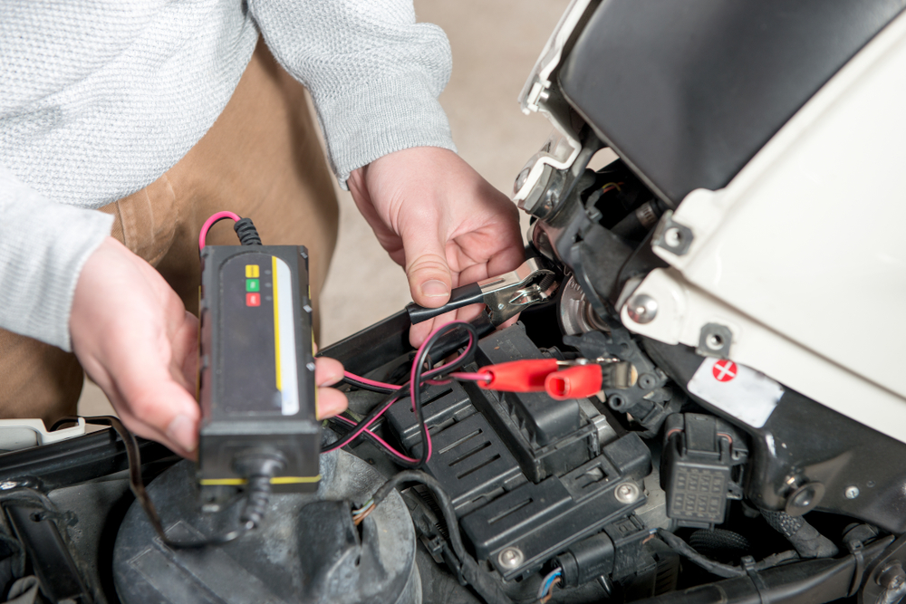 removing a motorcycle battery