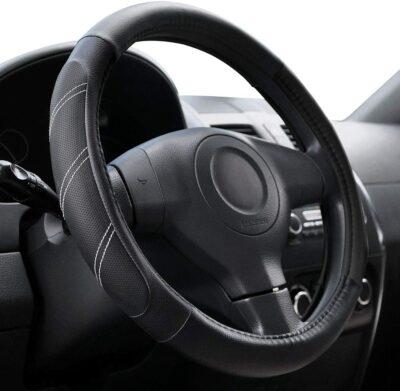 Elantrip Sport Leather Steering Wheel Cover