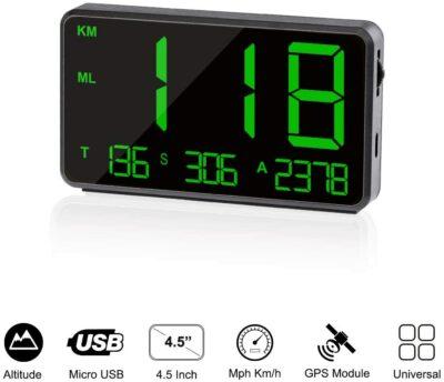 TIMPROVE Universal Digital Car HUD GPS Speedometer