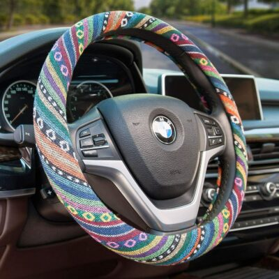 Valleycomfy Boho Steering Wheel Cover