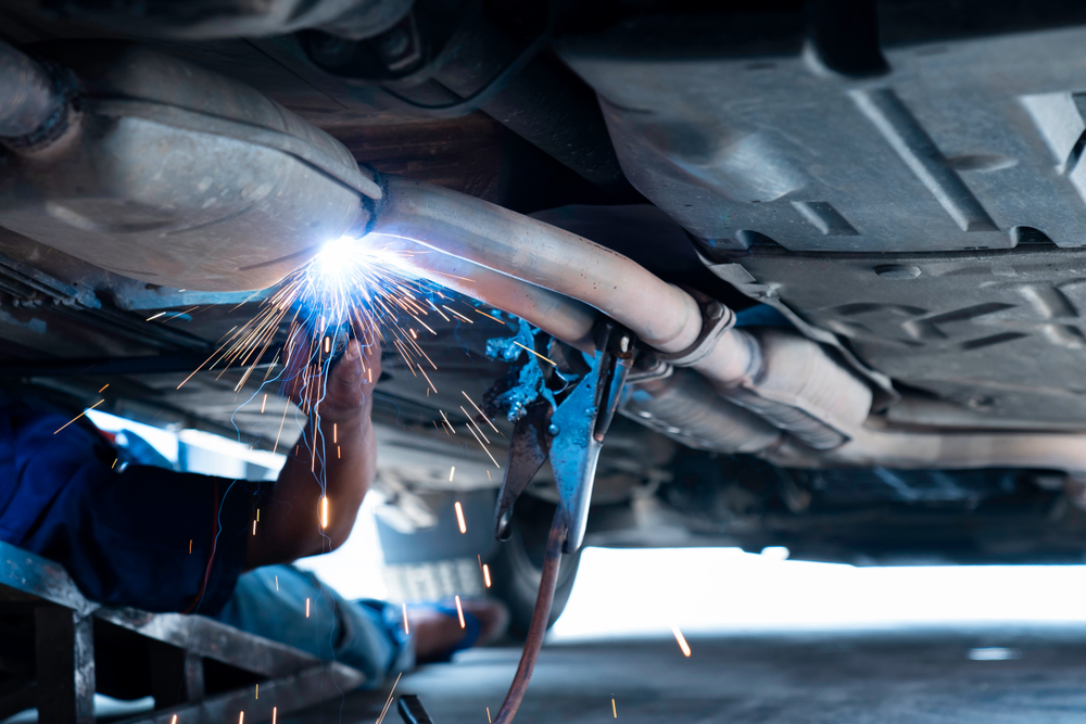 welding on an exhaust system