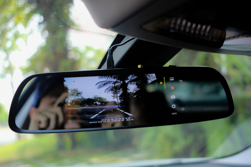 rearview mirror with backup camera