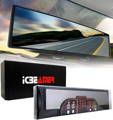 "ICBeamer 15.8"" Clip-on Rearview Mirror"