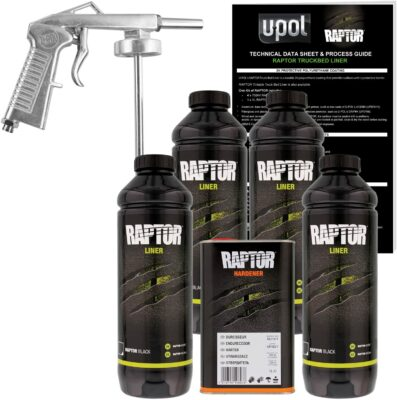 U-Pol Raptor Black Urethane Spray-on Truck Bedliner Kit