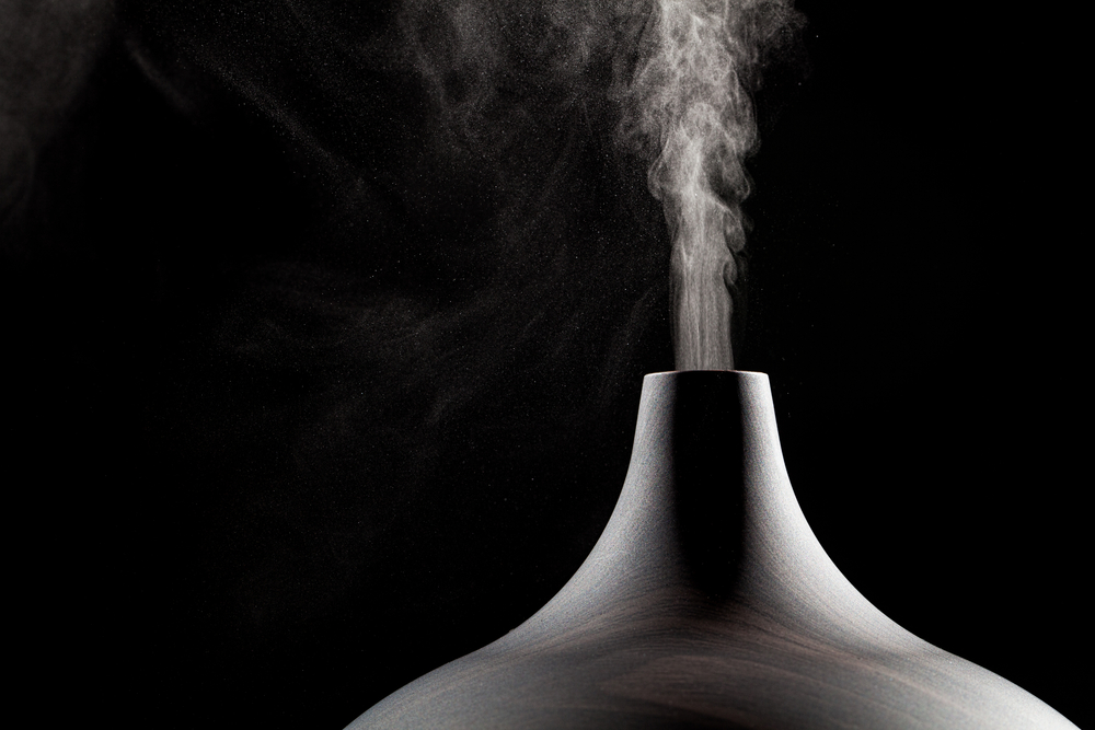 steam blowing from an oil diffuser