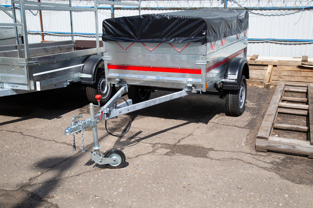 A trailer dolly on a small trailer