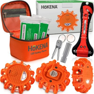 HOKENA Car Safety Flare Kit