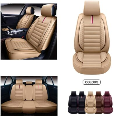 Oasis Auto Leather Car Seat Cover
