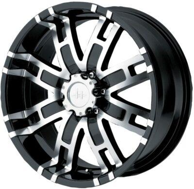 HELO HE835 Gloss Black Machined Wheel