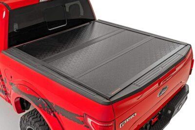 Rough Country Hard Tri-Fold Folding Tonneau Cover