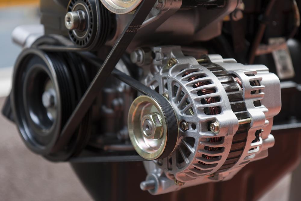 car alternator belt in use