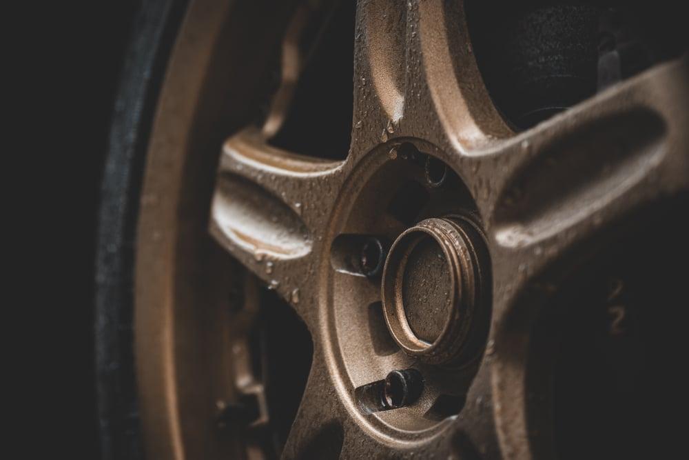 plasti dipped wheel in bronze