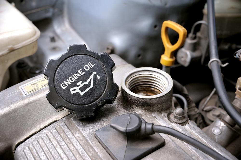 engine oil cap on engine