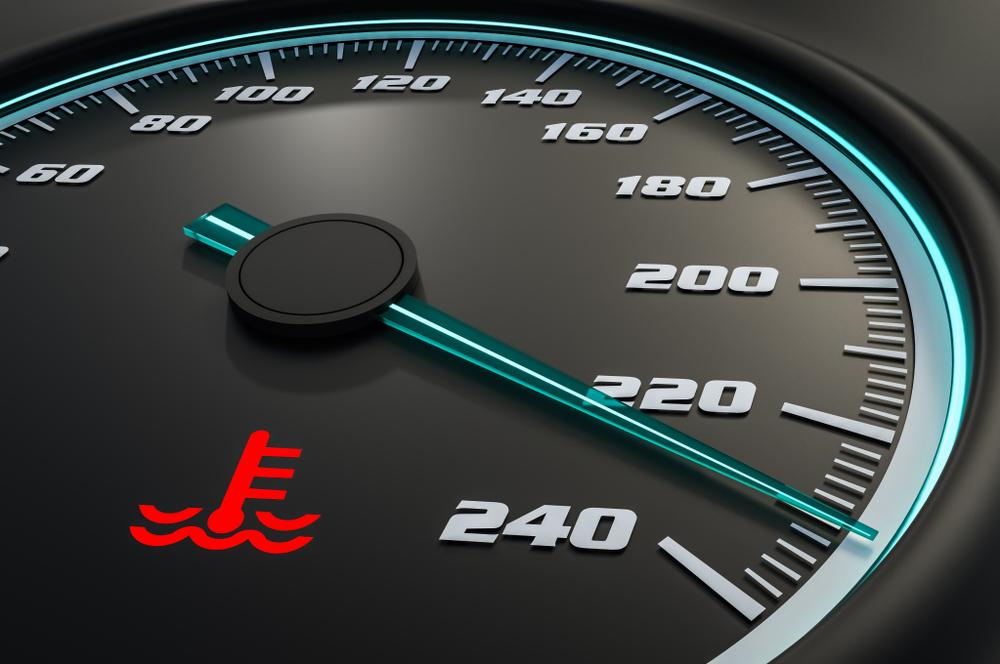 engine temperature warning light