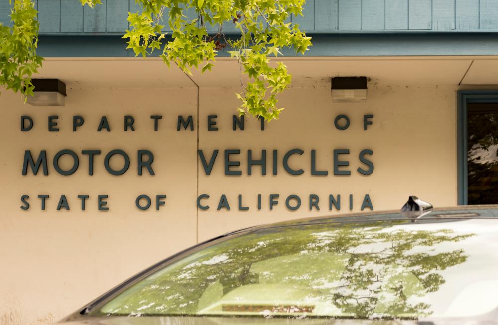exterior of DMV in California