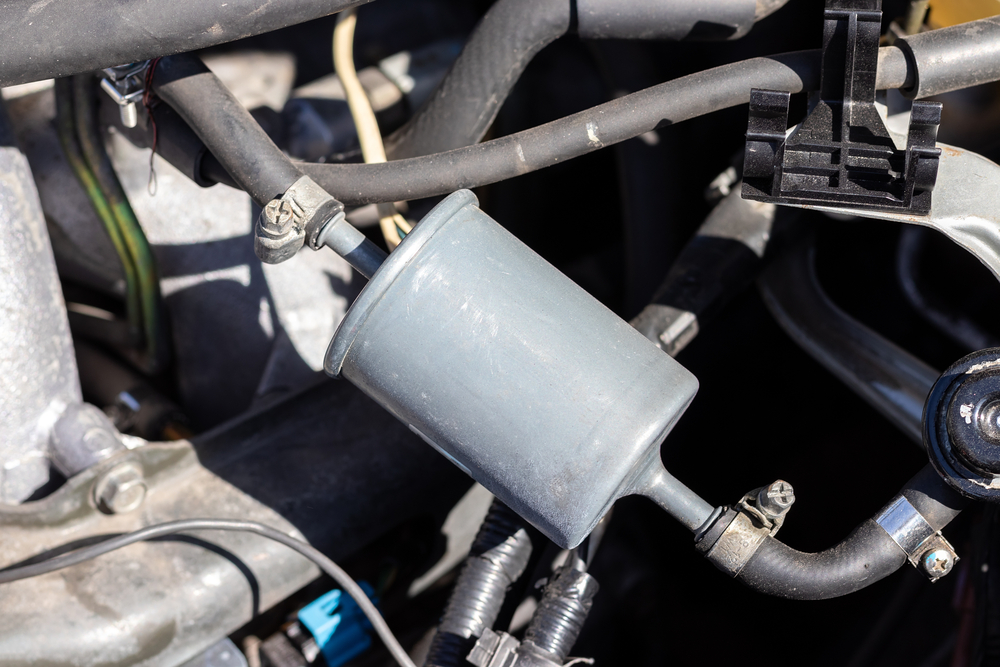 installed fuel filter