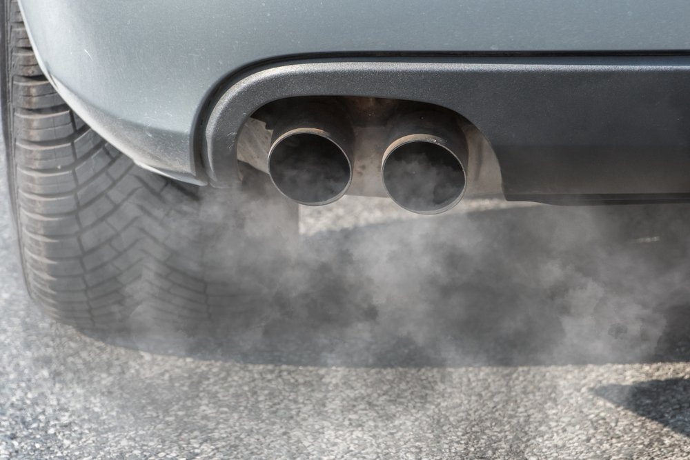 smoke coming out from the car's exhaust