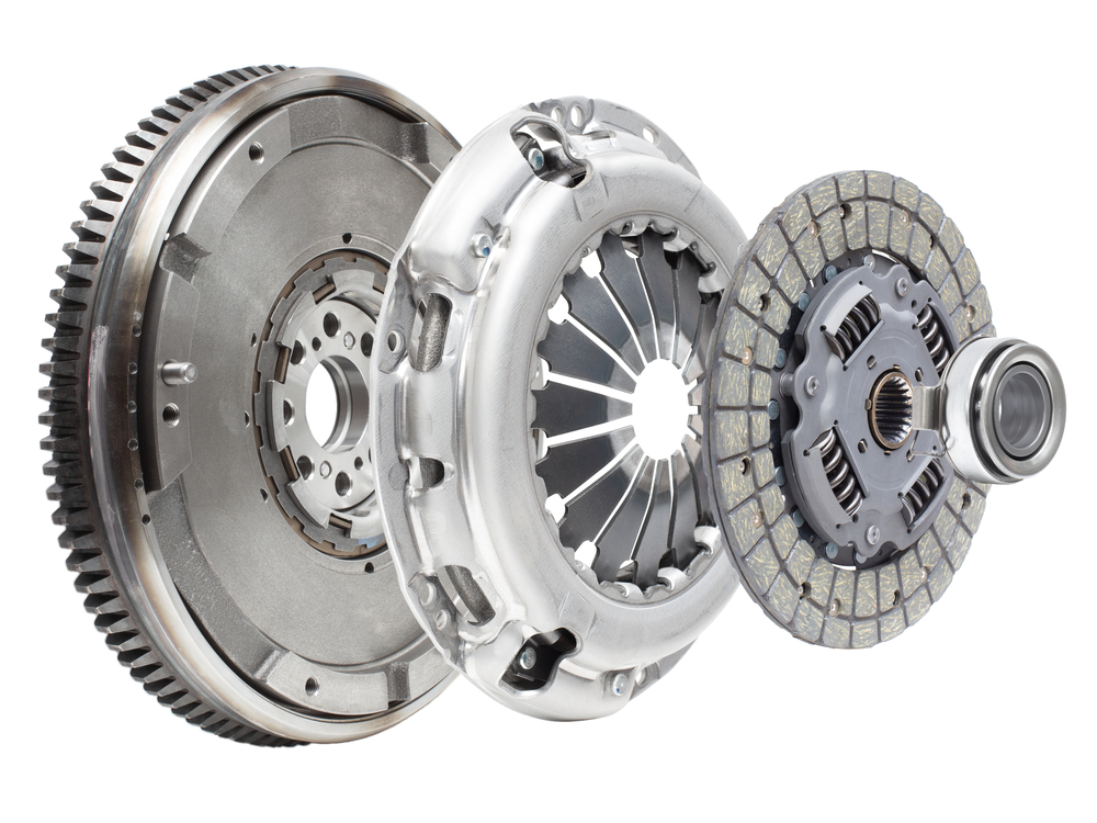 Expanded clutch with bearing exposed