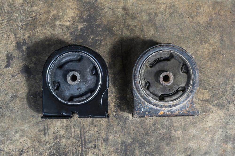 a new engine mount vs. old engine mount