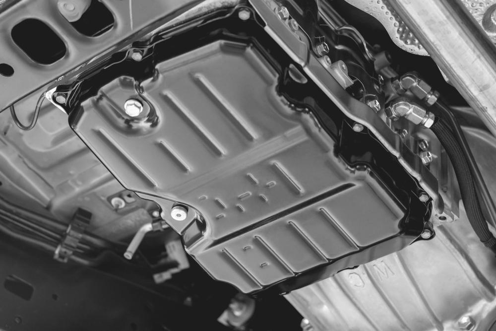 close up of oil pan