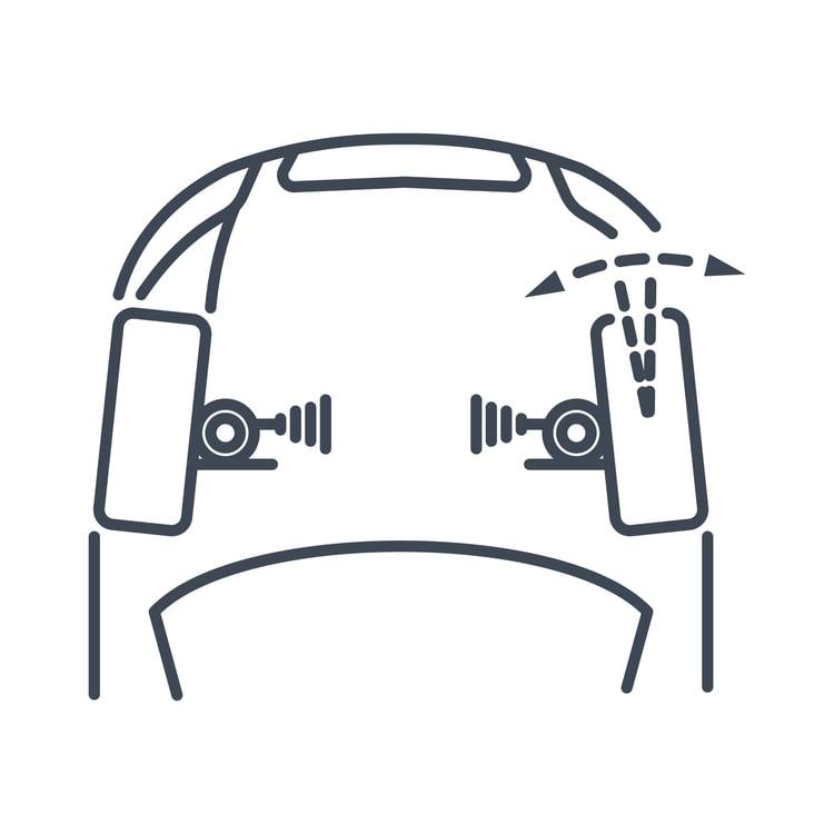 simple wheel toe-in diagram
