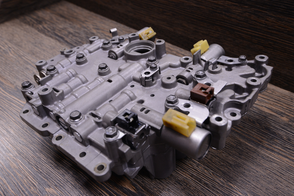 valve control body sitting on a bench