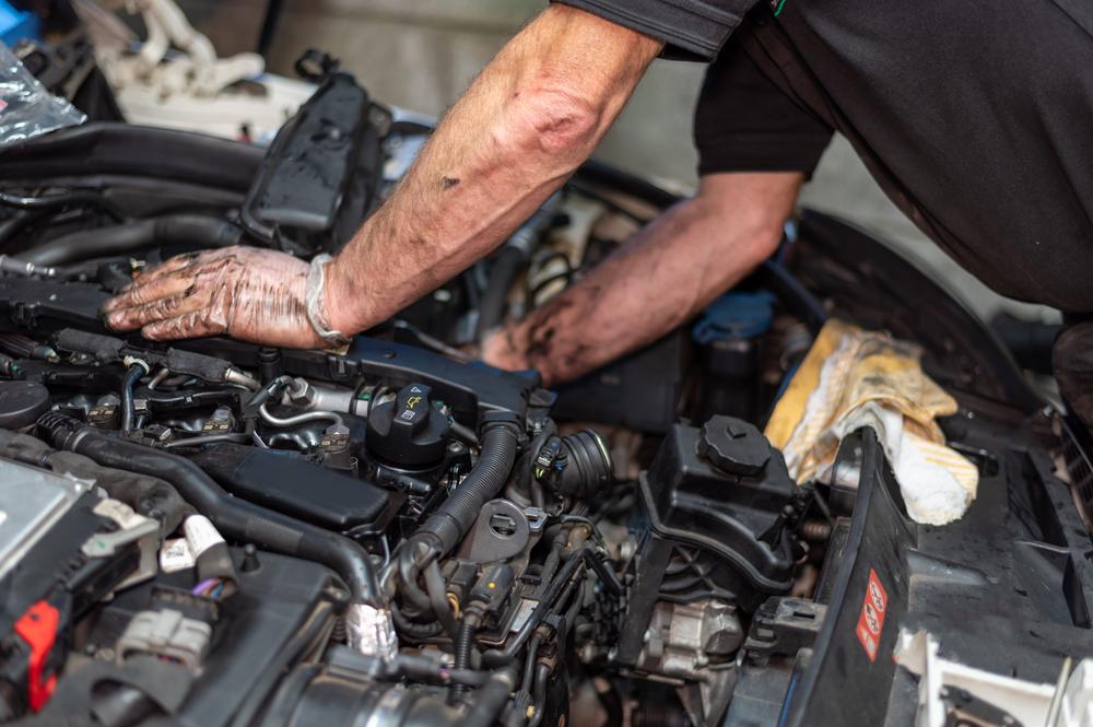 repairing an oil leak